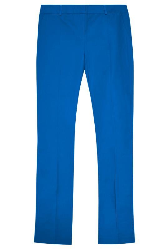 Blue Compact Cotton Trousers