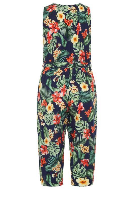 YOURS LONDON Navy Tropical Button Crop Jumpsuit_bk.jpg