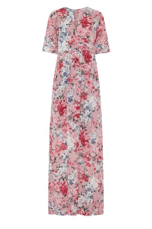 LTS Pink Floral Wrap Front Maxi Dress_F.jpg