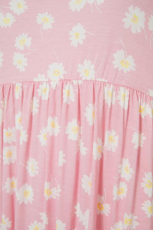 Pink Floral Print Short Frill Sleeve Dress_s.jpg