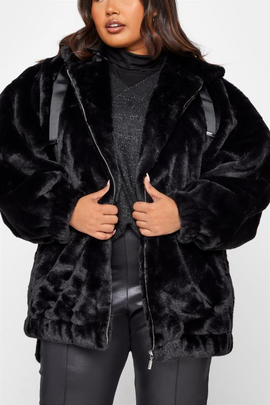 Black Faux Fur Oversized Jacket_60.jpg