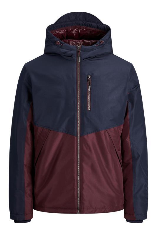 Plus Size  JACK & JONES Navy & Burgundy Jacket