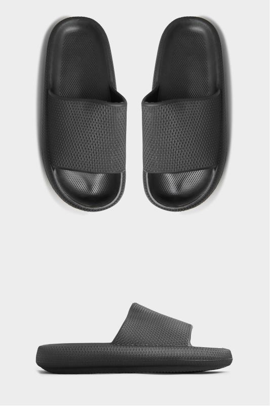 LIMITED COLLECTION Black Eva Sliders In Extra Wide Fit_A.jpg