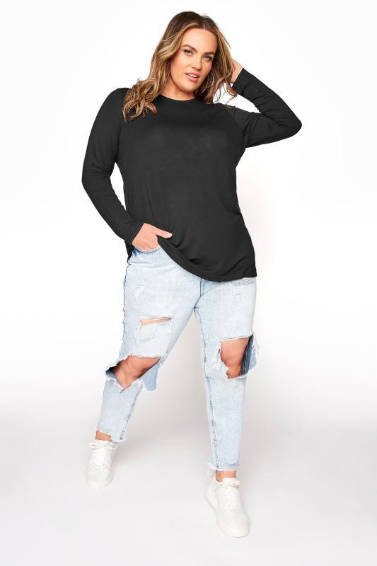 Black Scoop Neck Jersey T-Shirt_B.jpg