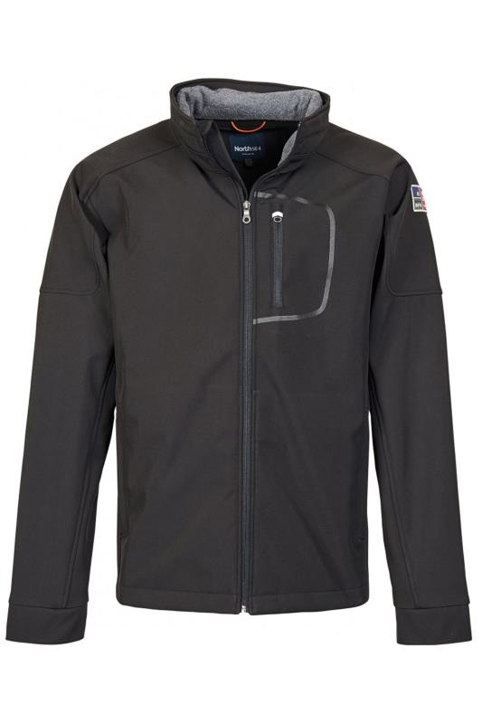 Men's Casual / Every Day NORTH 56°4 Black Softshell Water Repellent Jacket