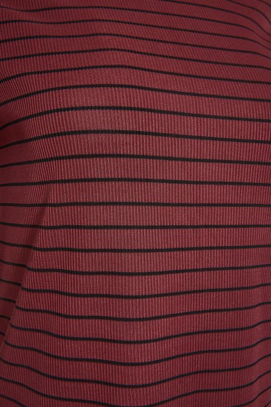 LTS Burgundy Stripe Rib T-Shirt_S.jpg