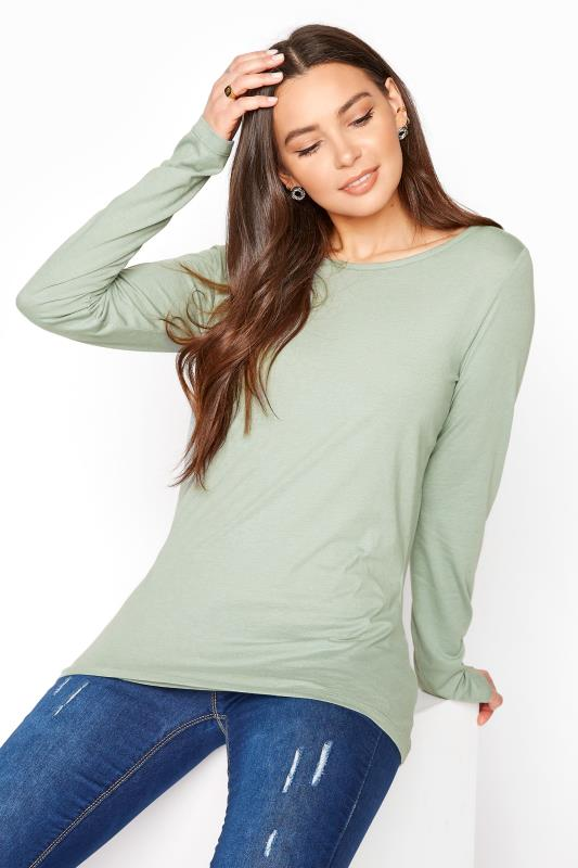 LTS Sage Scoop Neck T-Shirt