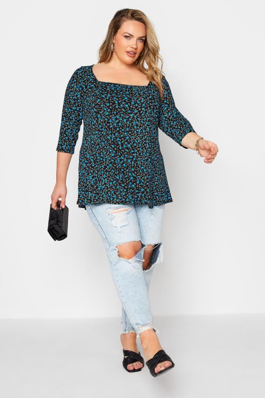 LIMITED COLLECTION Blue Floral Top_B.jpg