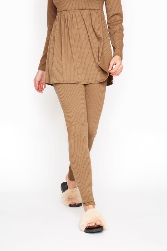 LTS Camel Ribbed Co-ord Leggings
