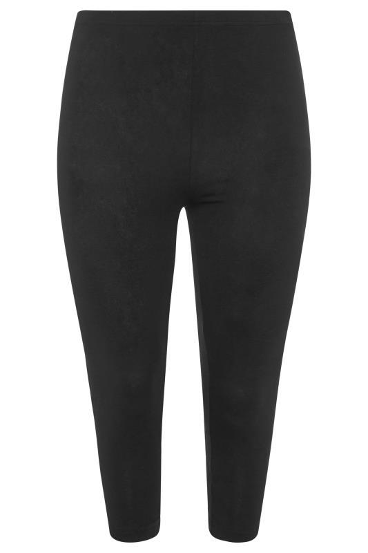 2 PACK Black & Khaki Floral Animal Print Cropped Leggings_F2.jpg