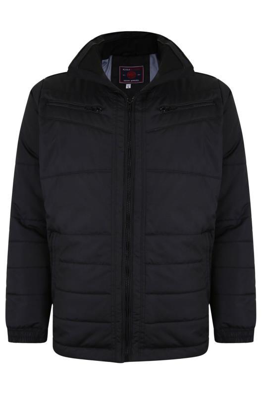 Plus Size  KAM Black Quilted Biker Jacket