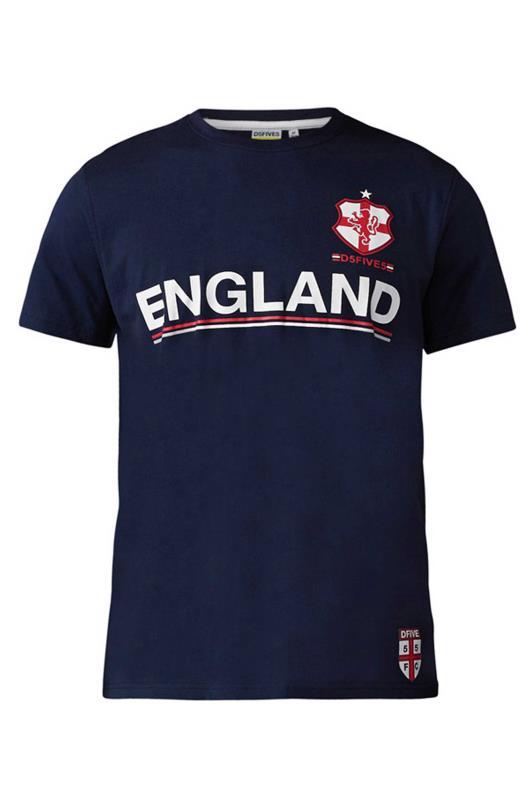 Großen Größen  D555 Navy England T-Shirt