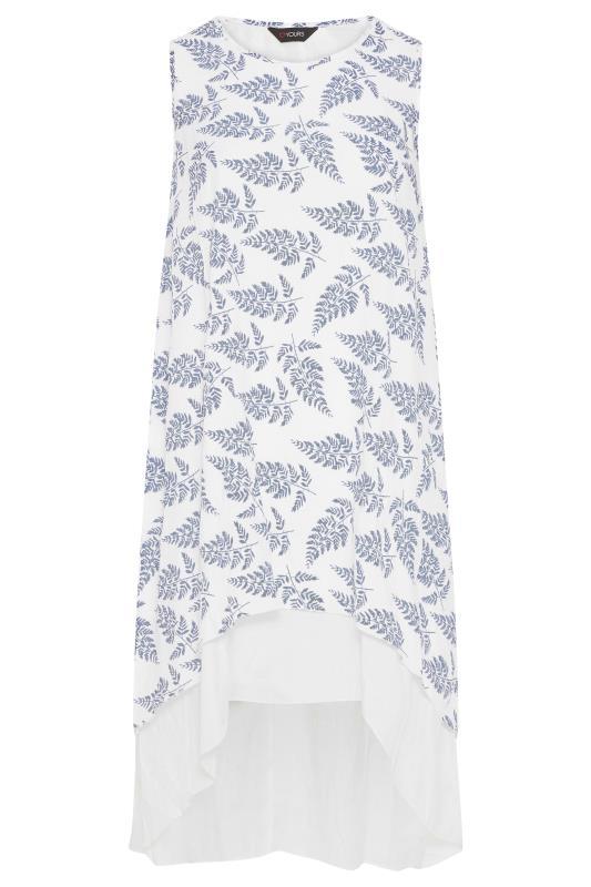 White Leaf Print Double Layer Dress_F.jpg