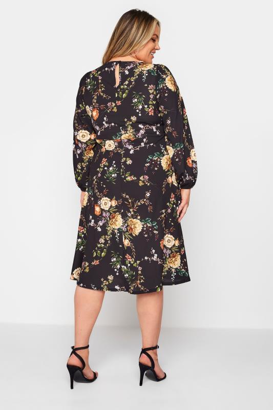 YOURS LONDON Black Blossom Midi Dress_C.jpg