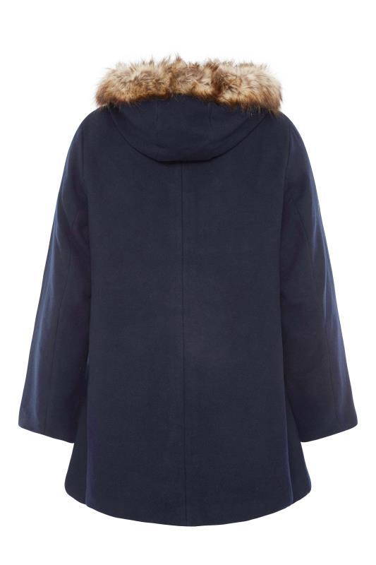 Navy Faux Fur Trim Duffle Coat_BK.jpg