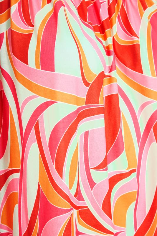 LIMITED COLLECTION Pink Abstract Bardot Top_S.jpg