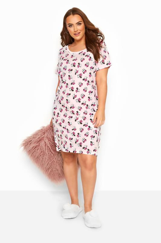 Plus Size Nightdresses & Chemises Pink Disney Minnie Mouse Nightdress