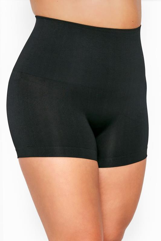 Plus Size Shapewear dla puszystych Black Seamless Control Shorts