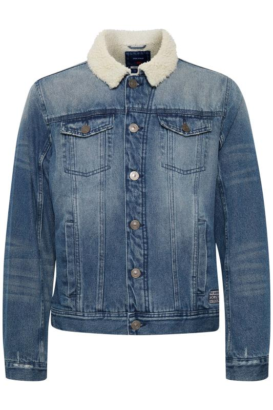 Plus-Größen Casual / Every Day BLEND Blue Borg Denim Jacket
