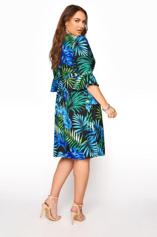 YOURS LONDON Black Tropical Wrap Dress_C.jpg