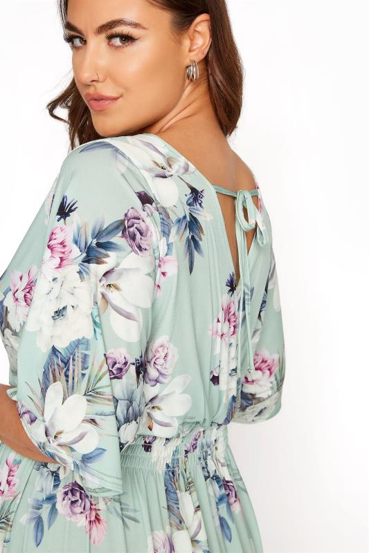 YOURS LONDON Green Floral Wrap Midaxi Dress_E.jpg