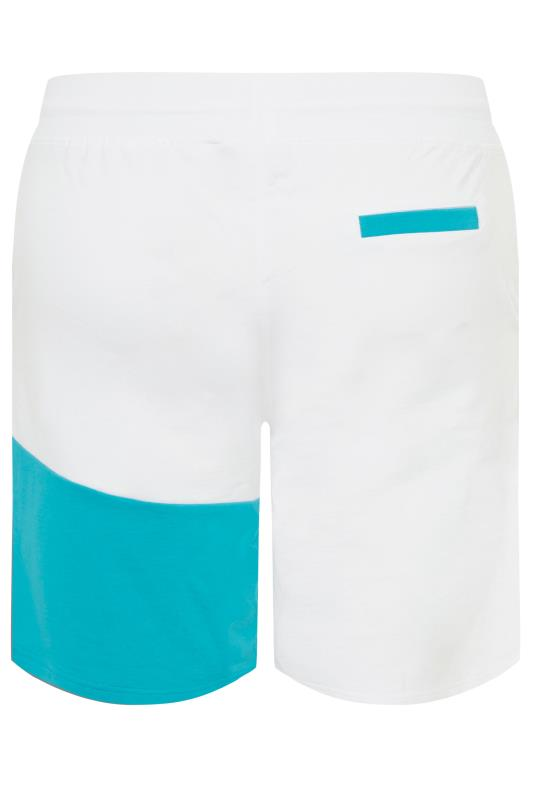 STUDIO A White Colour Block Shorts