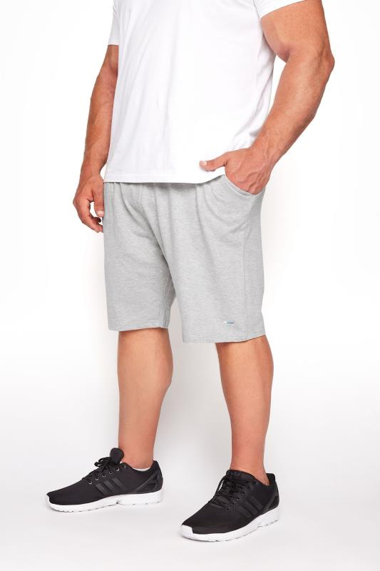 Men's Casual / Every Day BadRhino Grey Marl Essential Jogger Shorts