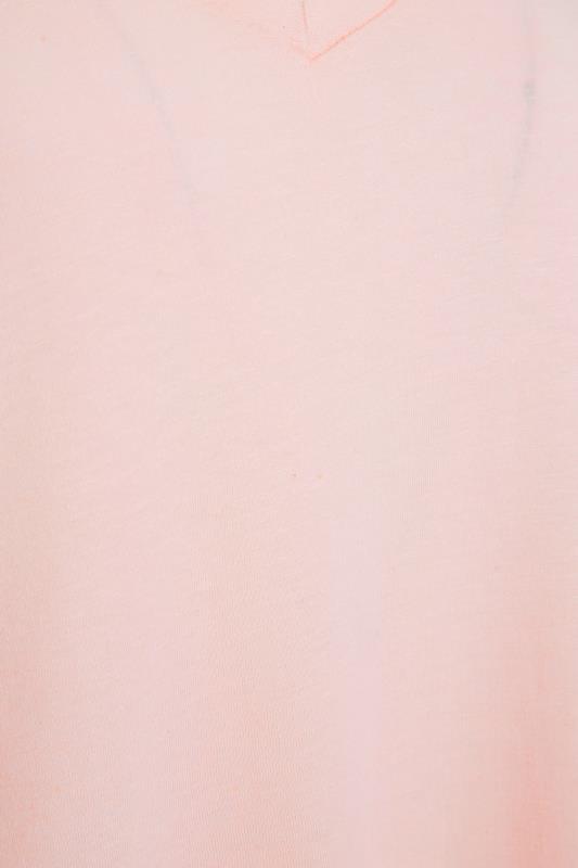 LTS Pink Linen Blend V-Neck T-Shirt_S.jpg