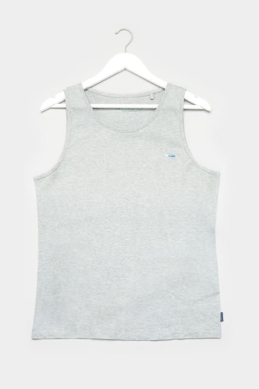 BadRhino Grey Marl Plain Vest Top