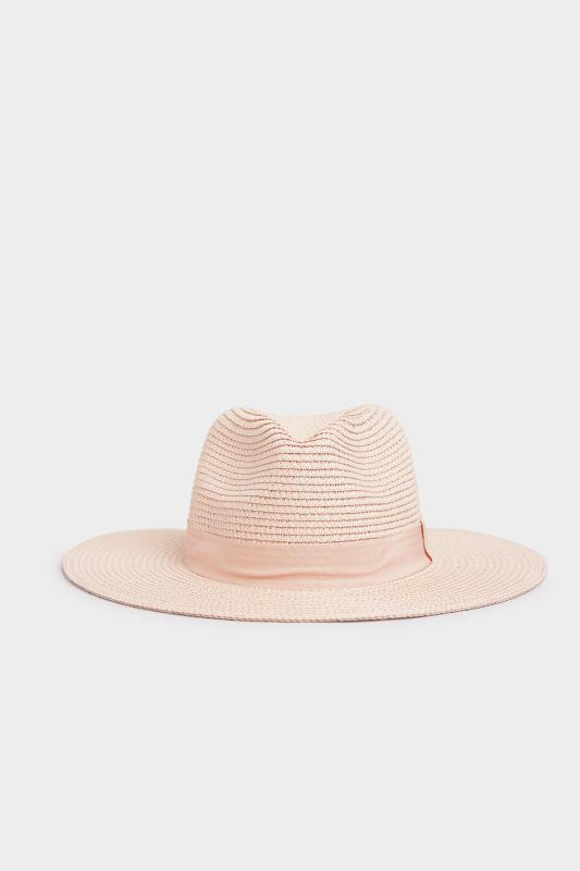 Blush Straw Fedora Hat