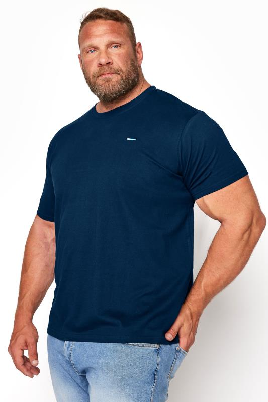 Men's Casual / Every Day BadRhino Navy Plain T-Shirt