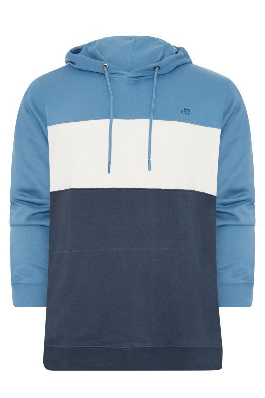 Plus Size  BLEND Blue Colour Block Hoodie