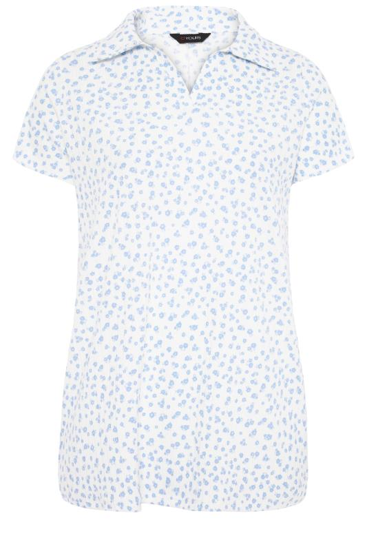 White Floral Textured Polo Top_F.jpg