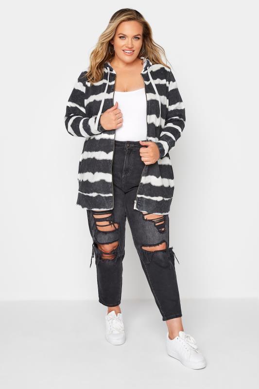 Black Stripe Zip Through Hoodie_B.jpg