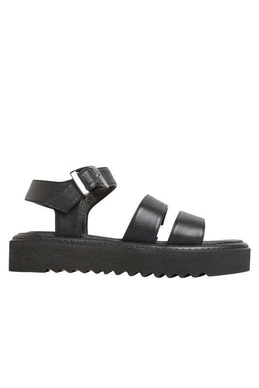 LIMITED COLLECTION Black Chunky Strap Sandals In Extra Wide Fit_AM.jpg