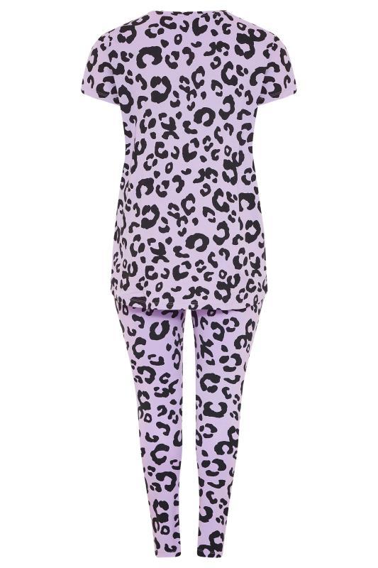 Purple Oversized Animal Print Pyjama Set_bk.jpg