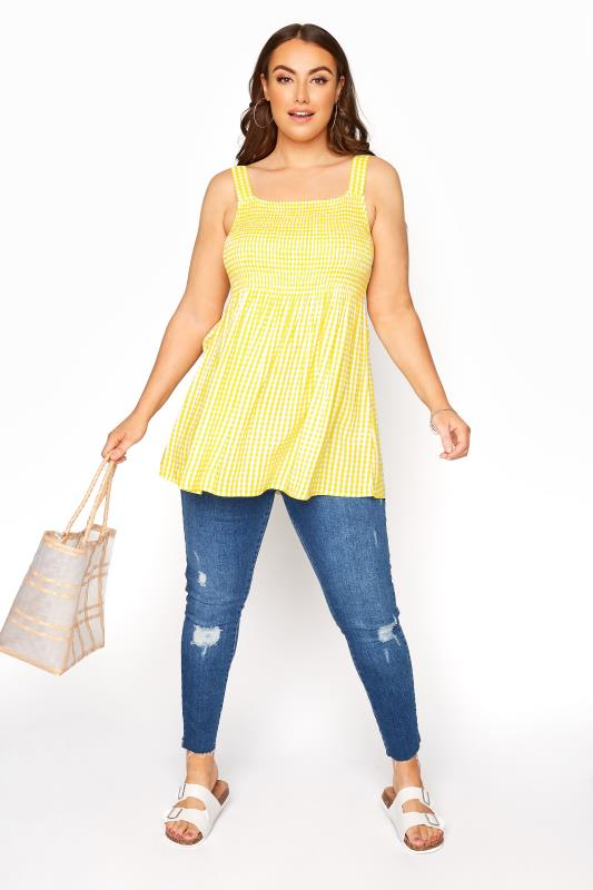 Yellow Shirred Gingham Vest_B.jpg