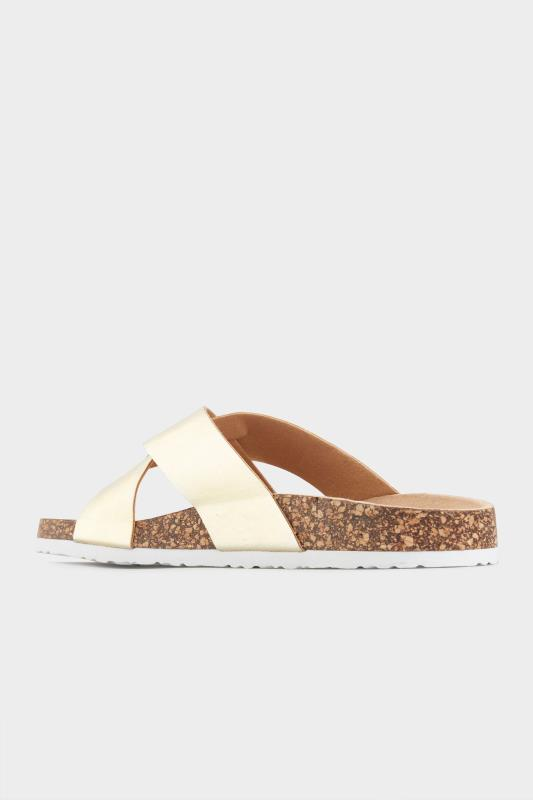 Gold Cross Strap Sandals In Extra Wide Fit_C.jpg