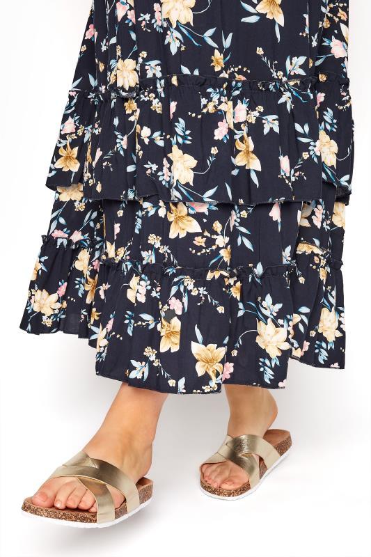 BUMP IT UP MATERNITY Navy Floral Bardot Maxi Dress_D.jpg