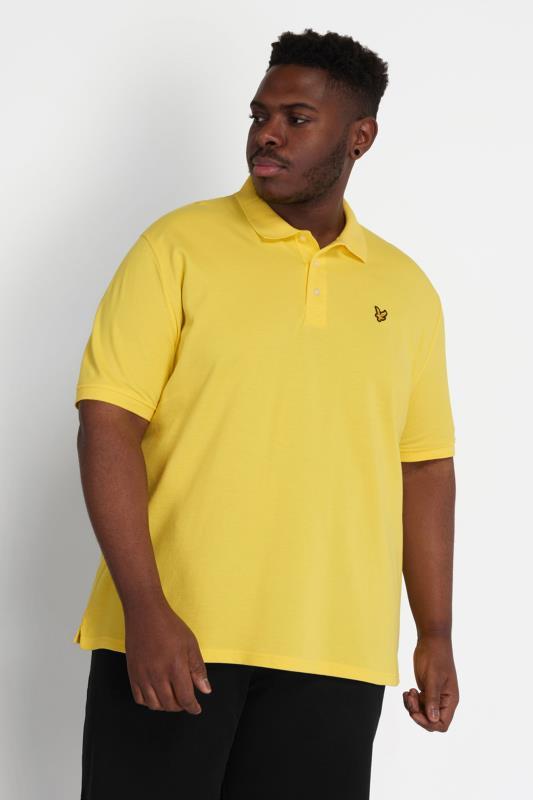 Plus Size  LYLE & SCOTT Yellow Polo Shirt