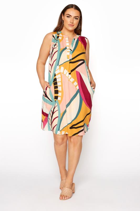 Beige Abstract Midi Dress_A.jpg