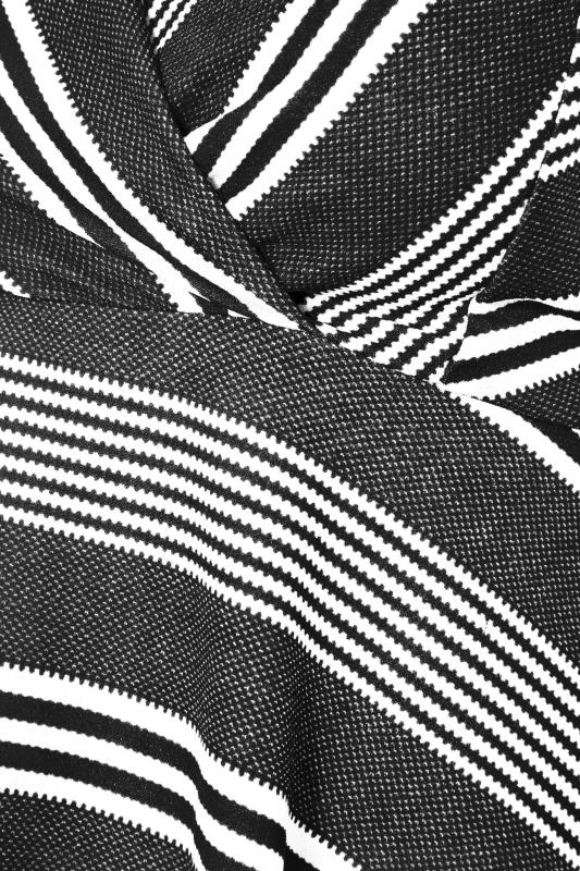 Black Stripe Wrap Skater Dress_S.jpg