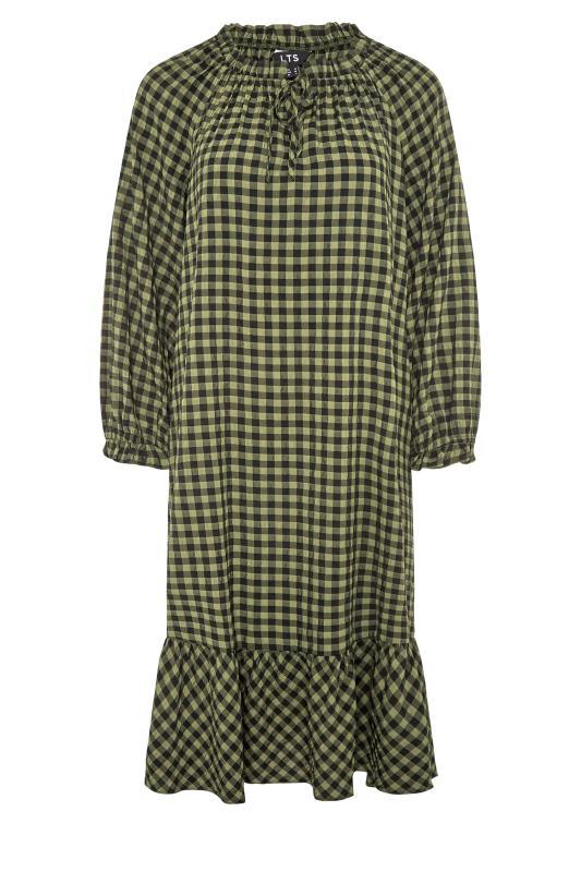 LTS Green Gingham Smock Midi Dress_F.jpg