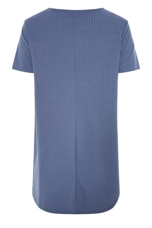 LTS Denim Blue Swing Ribbed T-Shirt_BK.jpg