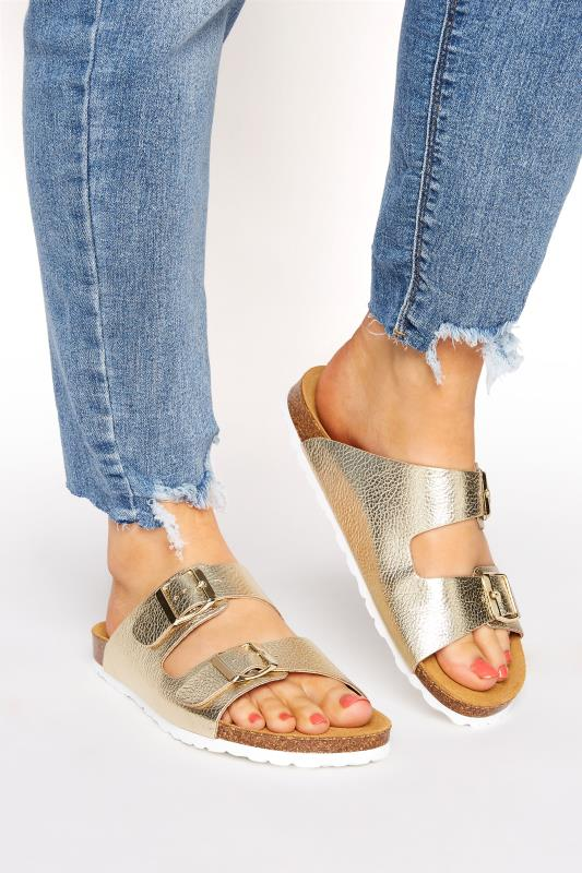 Gold Two Buckle Footbed Sandals_M.jpg
