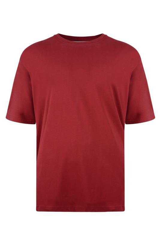 Plus Size  KAM Red Plain T-Shirt