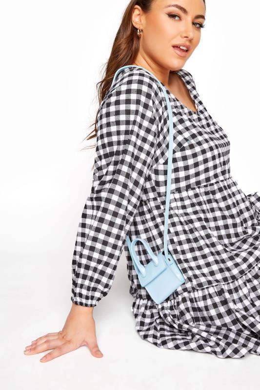 Light Blue Mini Handle Crossbody Bag