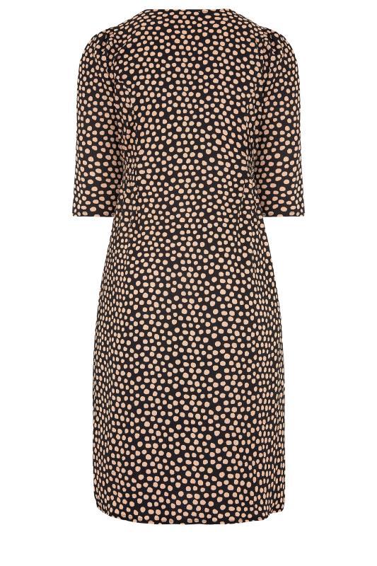 YOURS LONDON Black Spot Button Dress_BK.jpg