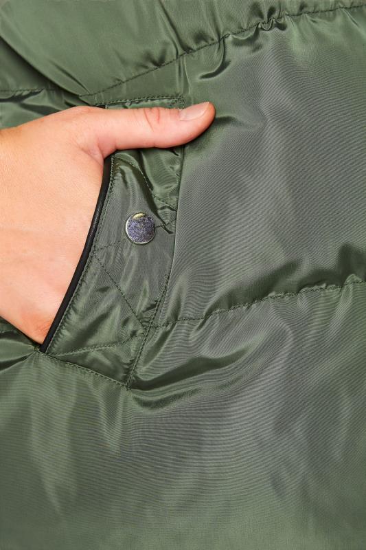 Khaki Panelled Puffer Gilet_E.jpg