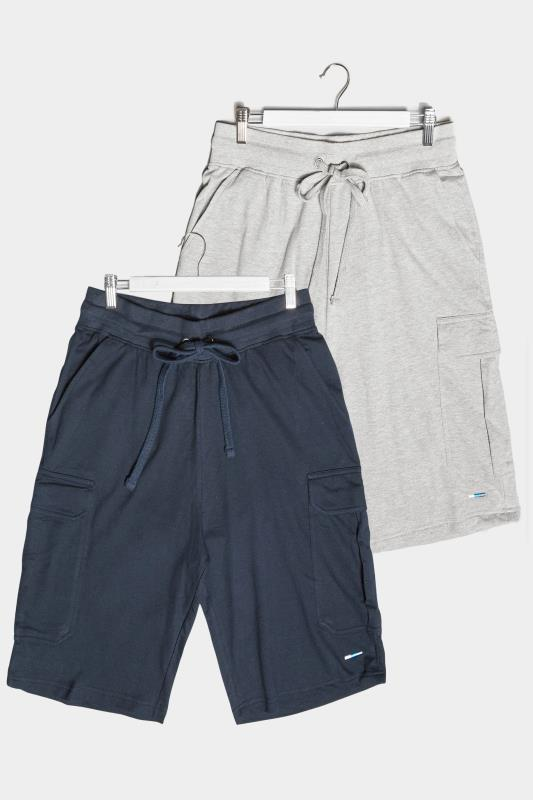BadRhino Multi 2 Pack Cargo Jersey Shorts
